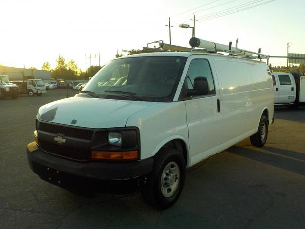 2007 Chevrolet Express G3500 Extended Cargo Van with Rear Shelving and Generator