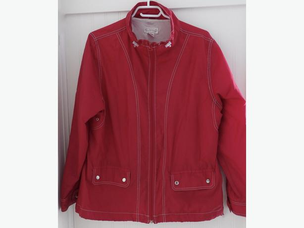 Red Windbreaker Jacket Northern Reflections