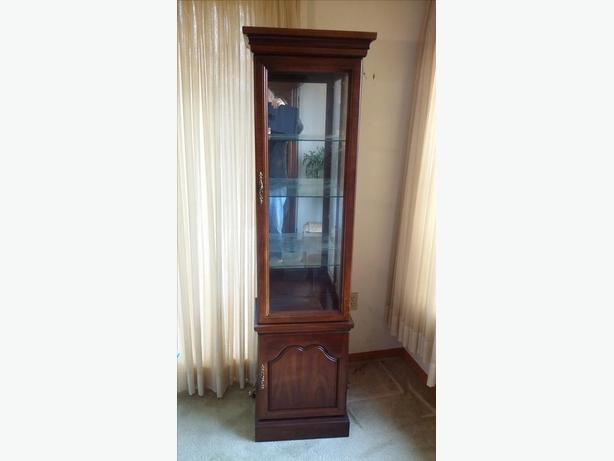 Antique Reproduction Crystal Cabinet