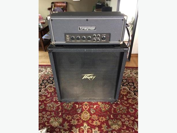 *price reduced* Vintage Traynor head and peavey 4x12 cab