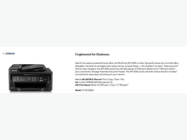 Epson Printer WF-2540.  Excellent condition
