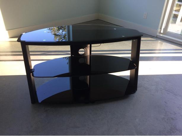 TV stand 20' deep X 44 W, glass