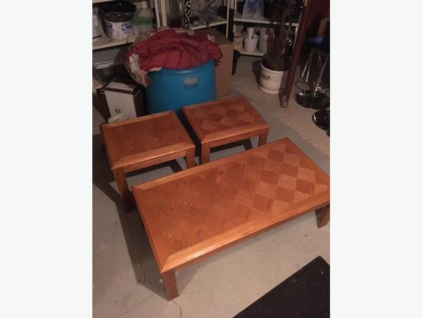 Oak Veneer table set