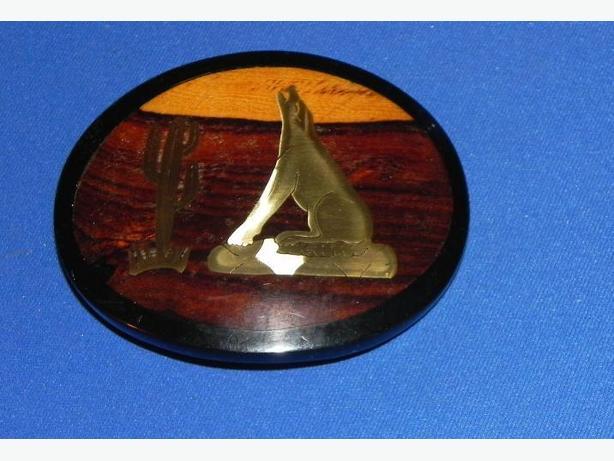 Acrylic Belt Buckle - brass inset
