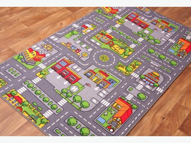 kids play rug roads