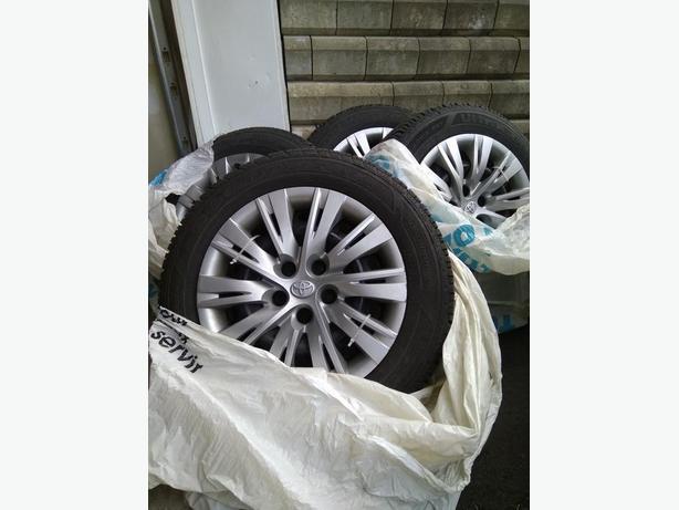 OEM Used Good Year Winter Tires on steel rims.