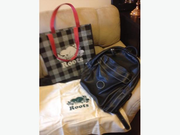 Roots leather backpack mint condition