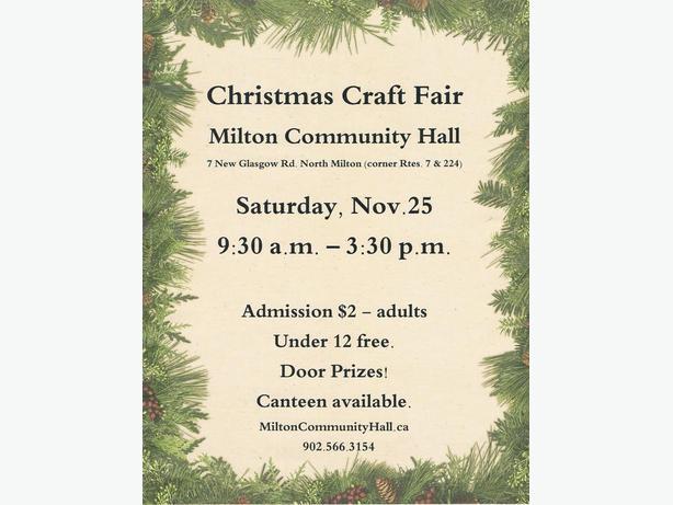 Register for the Christmas Craft Fair - Milton Community Hall