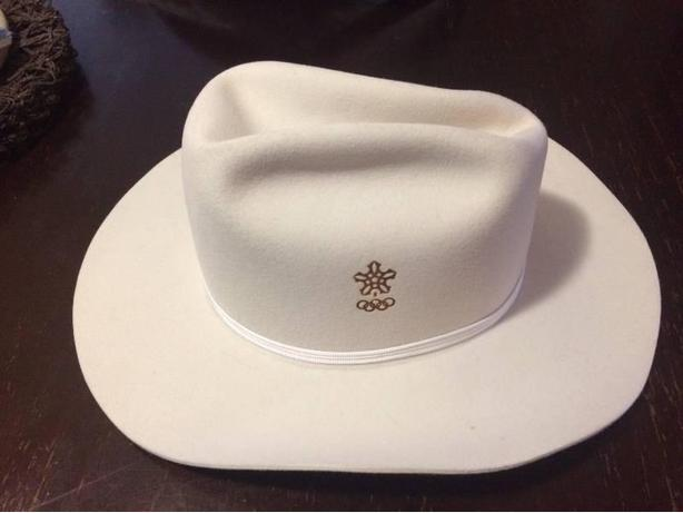 MINT 1988 OCO White Felt Cowboy Hat!
