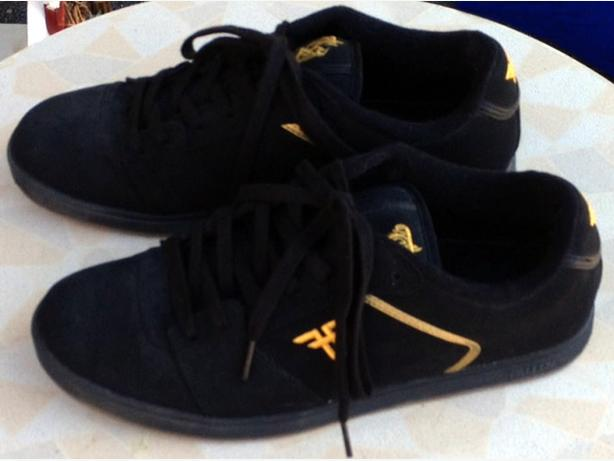 Fallen, men's skate shoes, black with gold crest