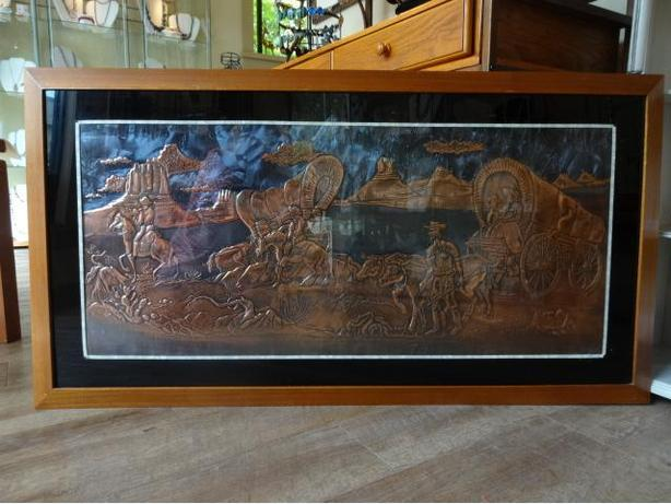Vintage Copper Toll Art Work at The Old Attic