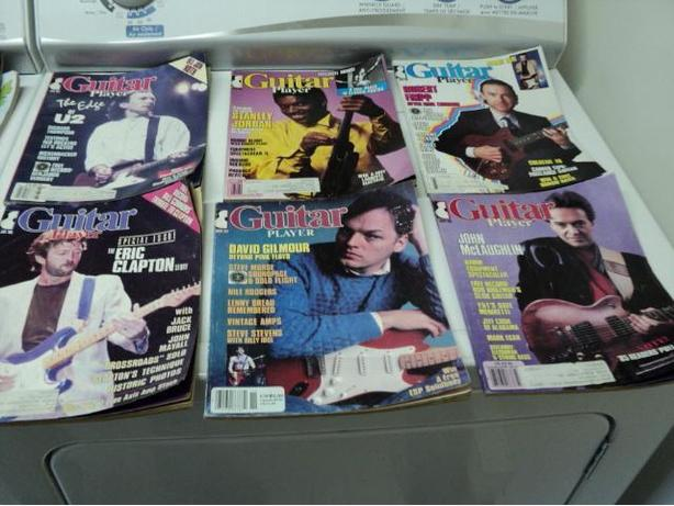 1980's & 90's Guitar Magazines. 25 Cents Each.