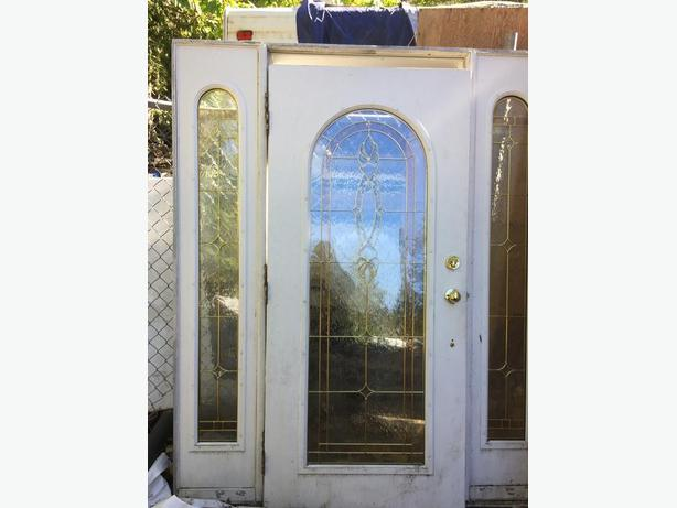 36 Inch Bevelled Glass Door With Sidelights Malahat Including