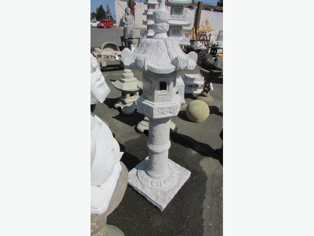 lots of teak , statues, fountains ect live edge teak