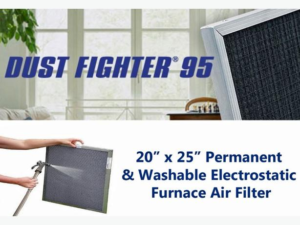 "Electrostatic Furnace Air Filter ~ 20"" x 25"""