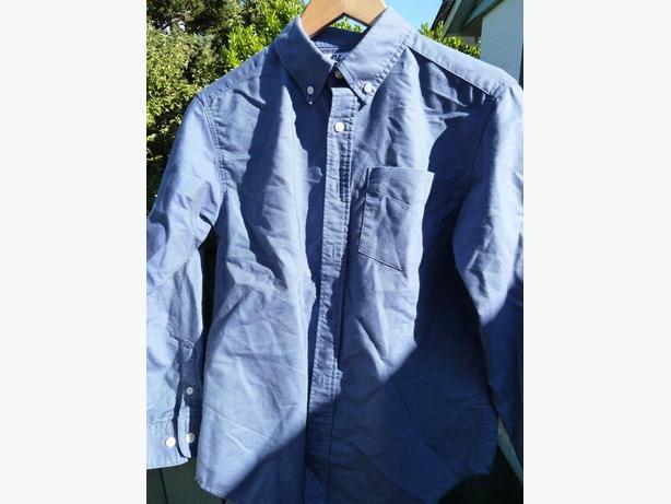 blue dress shirt boys age 11-13