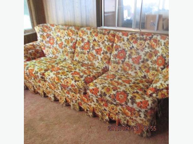 Floral Sofa & Chair
