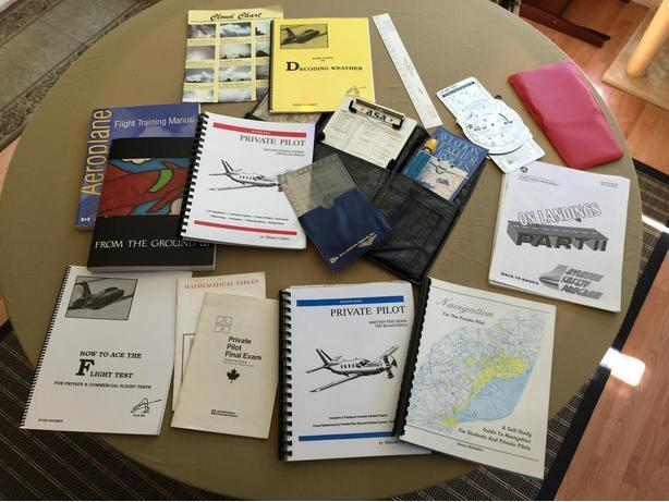 PRIVATE PILOT'S BOOKS AND EQUIPMENT