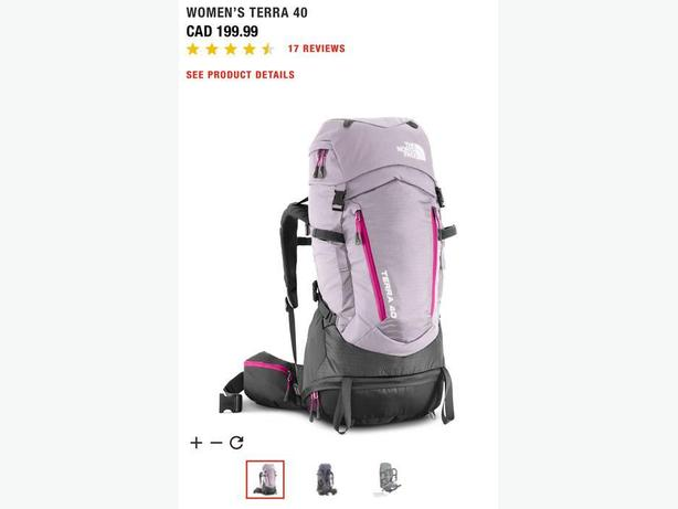 53eb8a2ba  Log In needed $120 · Women's North Face Terra 40L backpack $120