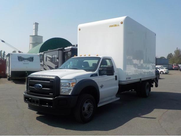 2013 Ford F-550 14 Foot Dually Diesel High Roof Cube Van with Power Tailgate