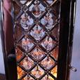 Small Shiny Silver Candle Lantern with Shimmering Crystals Set of 2 New