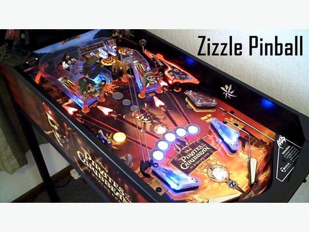 ISO of Zizzle pinball machine