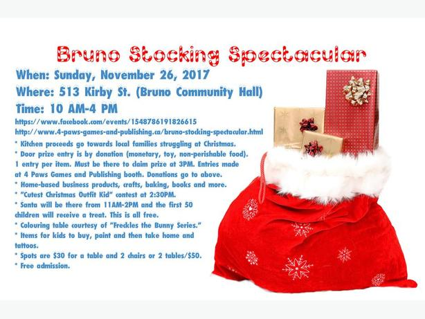 Bruno Stocking Stuffer Vendors and Sponsors Wanted