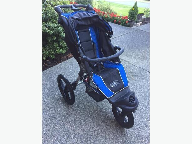 Baby Jogger Summit XC stroller - fully loaded