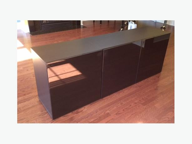 Beautiful wood & glass stereo console unit must sell by Monday!
