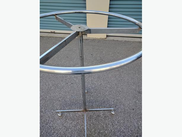 "Circular Rack - Excellent Chrome, on the wheels,54"" high,36"" rim"