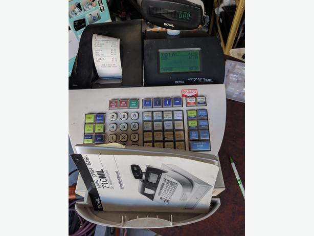 cash register-royal alpha 710ml,ez2program, keys,rolls,box,manua
