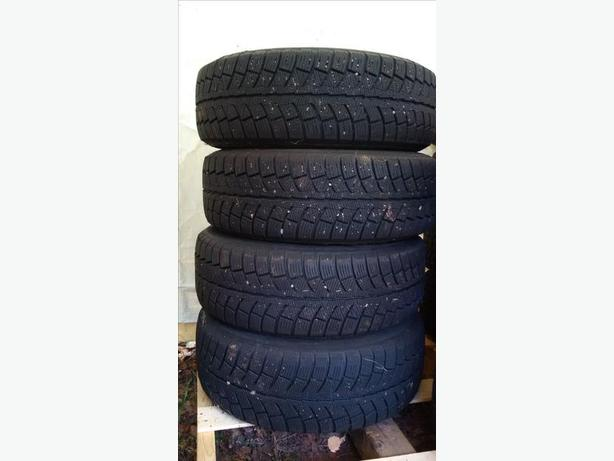 """WINTERS' COMING 4 winter tires 205/65 r 15 on rims 5 lug 4.5"""" or 114.3 mm"""