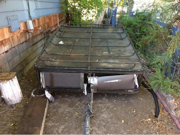 Older swiss camp trailer