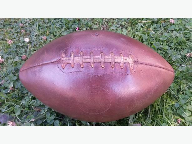 A VINTAGE PIGSKIN FOOTBALL