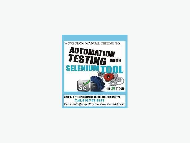 Selenium Training Toronto, Brampton, Scarborough