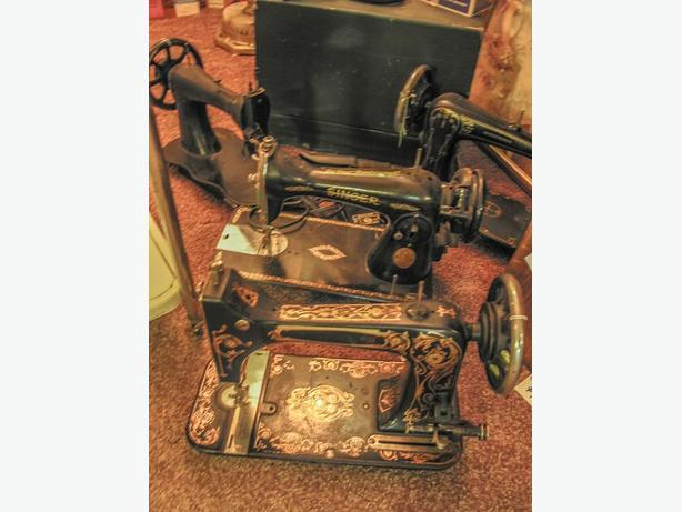 Antique sewing machines for parts