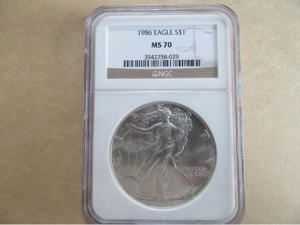 1986 American Silver Eagle MS 70