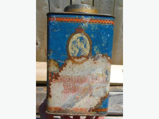 VINTAGE 1937's TOBIN'S CORONATION BLEND TEA 1 LB. TIN - HALIFAX