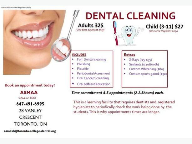 cheap dental cleaning!!