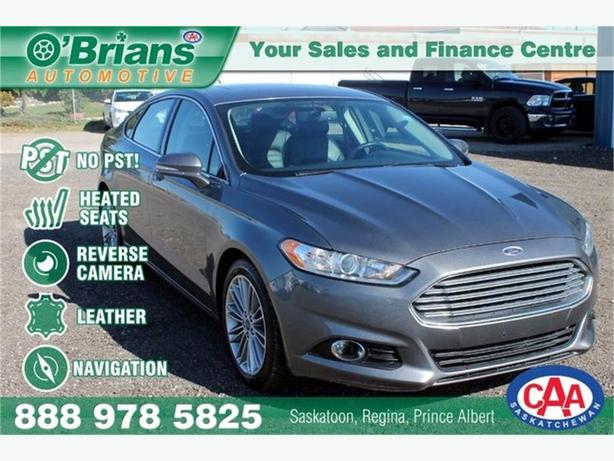 2013 Ford Fusion SE - No PST! w/Leather, Nav