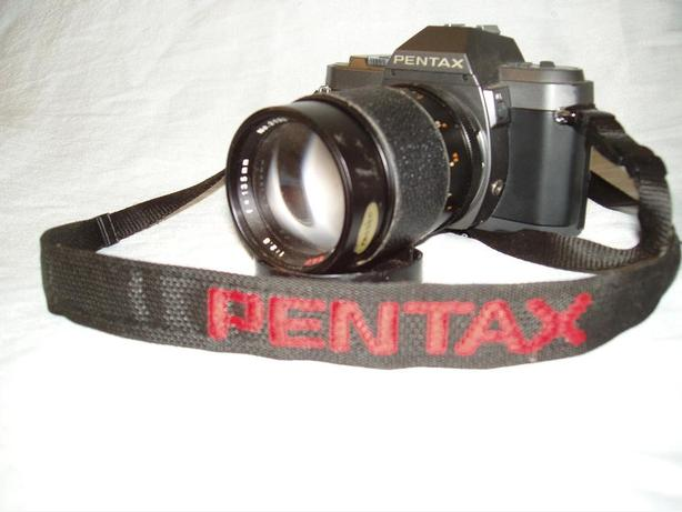 Pentax P30T 35mm SLR camera w/ GAF 135mm Tele Photo Lens and 55mm Takumar lens