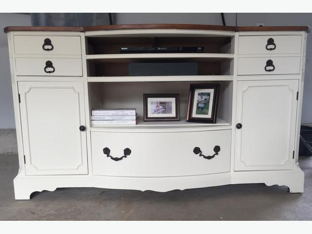 Entertainment Unit - Repurposed From Antique Buffet