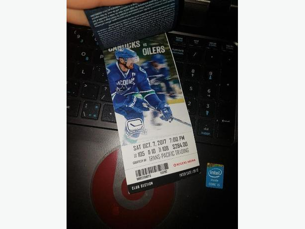 Canucks  VS. Oilers *Oct 7th *