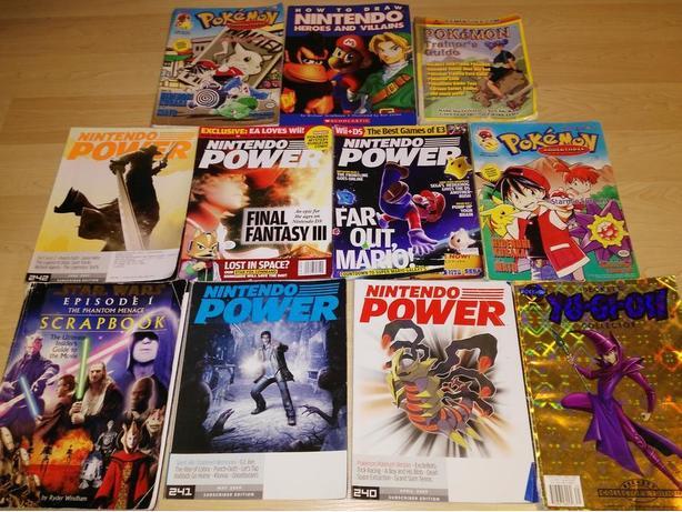 Selection Of Gaming Magazines - Nintendo Power - Pokemon - YuGiOh
