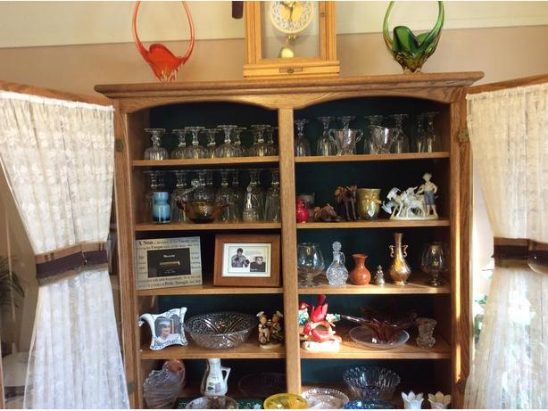 Items in China cabinet