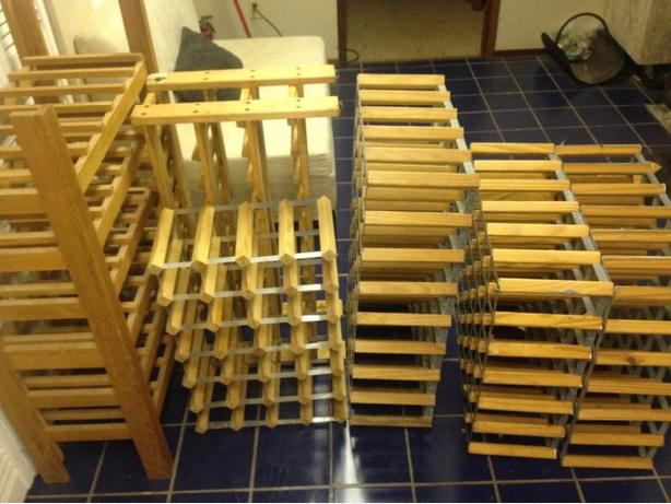 Wine Racks (3) med. (3) large
