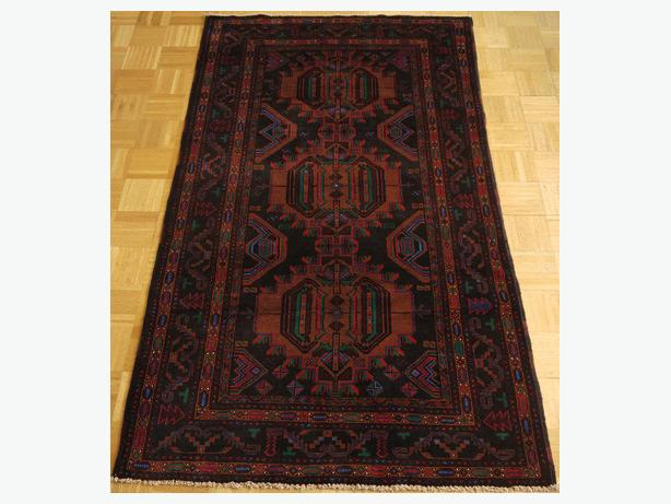 16538-Balutch Hand-Knotted/Handmade Afghan Rug/Carpet Tribal/Nomadic Authentic