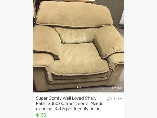 super comfy well loved chair