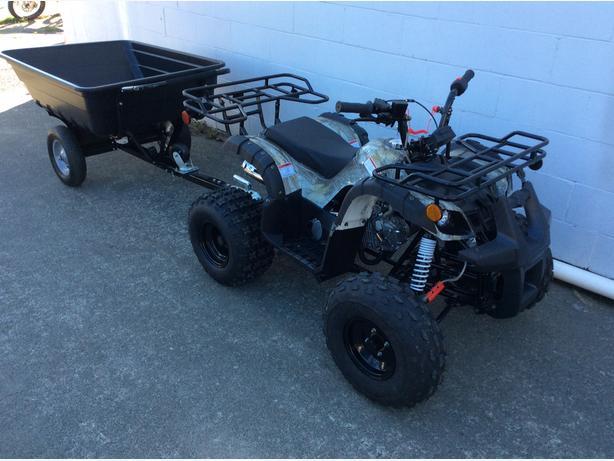 125cc Premium ATV 3 speed with Trailer Optional