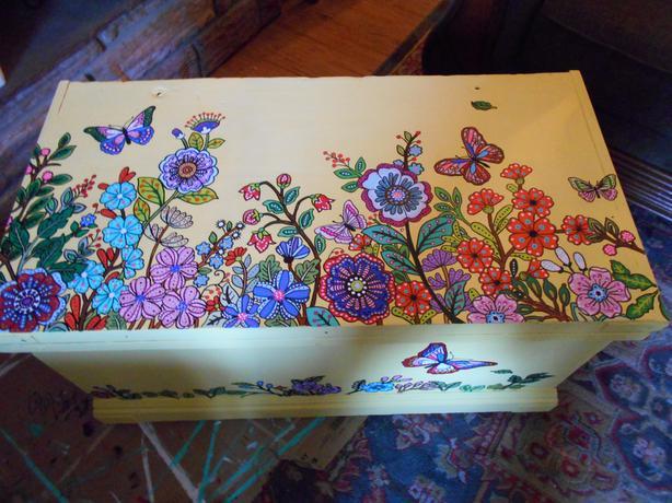 Boho trunk/coffee table